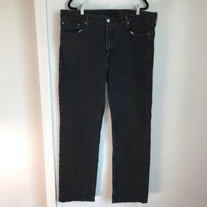 Levi's   514 Black Straight Leg Jeans